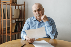 Man reading report about EHF Therapy