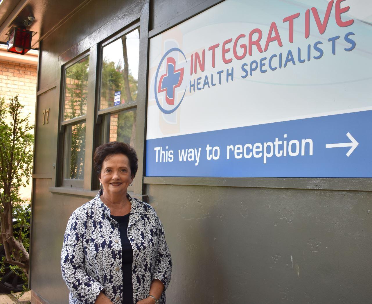 Barbara at the Ozone Clinic in Sydney, Australia.
